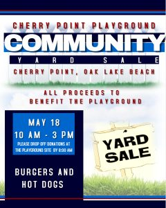 Cherry Point Playground Yard Sale @ Cherry Point Playground