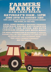 Farmer's Market @ Oak Lake Beach