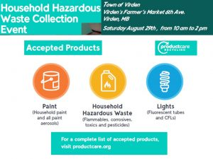 Household Hazardous Waste Collection Event @ Virden Farmers' Market